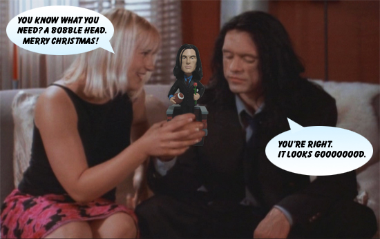 Talking Johnny Bobble Head from The Room  by Tommy Wiseau